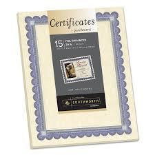 foil enhanced parchment certificate by southworth souct1r