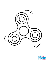 fidget spinner 2 coloring pages hellokids com