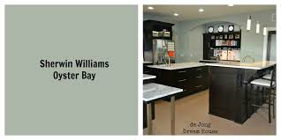 sherwin williams oyster bay wall color changes from green to