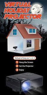mr christmas indoor virtual holiday projector halloween