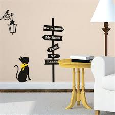 wall decor appealing decorating a boys room with street signs wondrous g200 black cat road sign wall sticker decals home decor vinyl art removable decor children room 132 wall interior g200 black cat road sign wall