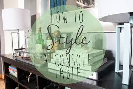 styling a console table the spiffy company