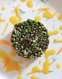 cuisine lentille tartare de saumon aux lentilles vertes du puy régal