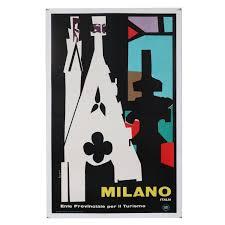 martini rossi poster duomo cathedral milano italia travel poster marcello nizzoli