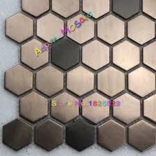 aliexpress com buy hexagon mosaie tile copper tiles backsplash