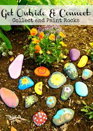 get outside u0026 connect collect and paint rocks rhythms of play
