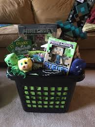 Gift Basket Ideas For Raffle Minecraft Gift Basket Gift Basket For Raffles Pinterest
