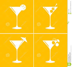 vintage cocktail glasses martini cocktail glasses stock illustration image of alcohol