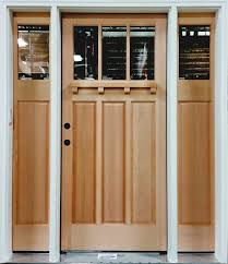 Doors Exterior Entry Exterior Fir Entry Door And Sidelight Heritage Millwork Inc