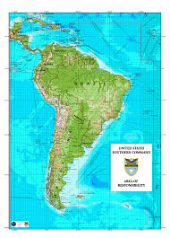 Map Of Countries In South America by Southcom U0027s Area Of Responsibility