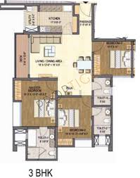 1500 sq ft 3 bhk floor plan image lodha group grandezza