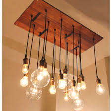 industrial style lighting chandelier the size is nice because is shows a hint of the tipped edison light