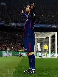 Lionel Messi Leg Fc Barcelona Vs Chelsea Fc Uefa Chions League Of 16