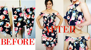 diy floral dress from leftover fabric scraps
