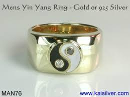 custom rings for men yin yang rings mens yin yang ring in gold or 925 silver meaning