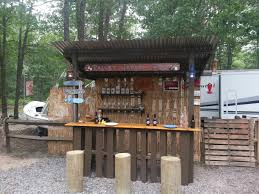 Pallet Furniture Patio by Outdoor Tiki Bar Made With Repurposed Pallets Tiki Bars Long
