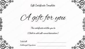 gift voucher certificate template custom gift certificate