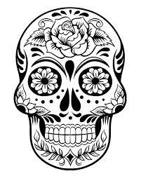 printable coloring pages sugar skulls sugar skull colouring pages pdf printable coloring sugar skull girl
