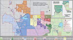 denver schools map district map click on image for size map