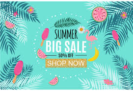 summer sale summer sale abstract banner background design vector illustration