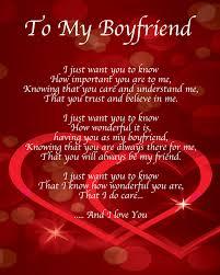 to my boyfriend poem birthday christmas valentines day gift