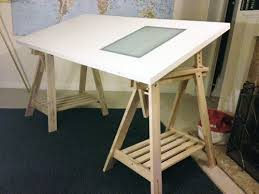 Drafting Table With Light Box Ikea Drawing Table With Lightbox Best Trestle Table Desk Drawing