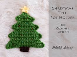 tree pot holder pattern crochet knit melody s makings