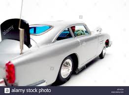 aston martin classic james bond 1965 james bond vintage battery operated toy car from movie stock