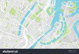 Copenhagen Map Urban City Map Copenhagen Stock Vector 517465279 Shutterstock