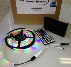 strips of led lights battery powered 3528 rgb led strip light kit with 44 key remote