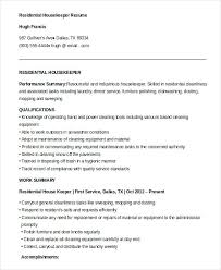 resume exles housekeeping sle housekeeping resume prettify co