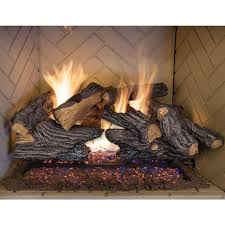 gas logs fireplace logs the home depot