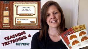 teaching textbooks math 4 review youtube