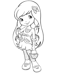 strawberry shortcake coloring pages to print some pictures of