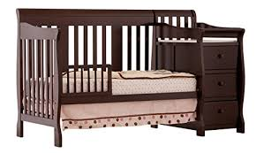 4 In 1 Baby Crib With Changing Table 3 Convertible Baby Cribs With Attached Changing Tables
