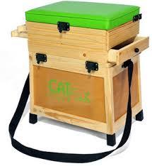 siege pecheur siège pêche et casier en bois b3t
