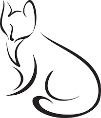 easy outlines of animals fox face outline