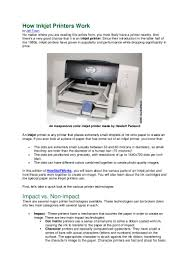 how inkjet printers work
