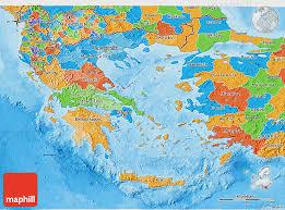 greece map political political 3d map of greece