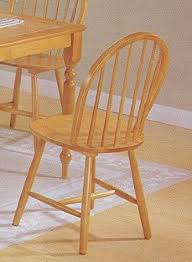 Country Dining Chairs Set Of 4 Oak Finish Country Style Wood Dining