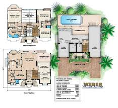 Old Florida House Plans Coastal Floor Plans Mediterranean House Plans With Pool Open