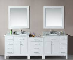 double sink bathroom vanity with makeup table polished chrome