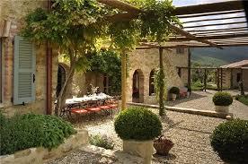 Italian Patio Design Outdoor Dining Italian Villa Travel Pinterest Pea Gravel