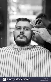 mens hairkuts 20015 barbershop black and white stock photos images alamy