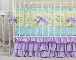 Purple And Aqua Crib Bedding Furniture Lavender Purple Black And White Sloane Baby Bedding