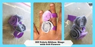 mini fashion diy how to make ribbon rose rings how to make a