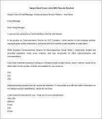 Resume Submission Email Email Cover Letter Resume Cover Letter Via Email 11 Email Cover