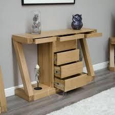 Narrow Oak Console Table Wonderful Oak Console Table Ideas Oak Console Table With 2 Drawers