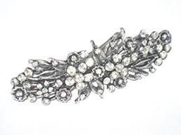 hair brooch design 8 cm vintage antique style diamante flower design hair