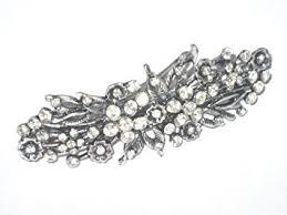 hair brooch design 8 cm vintage antique style diamante flower design hair
